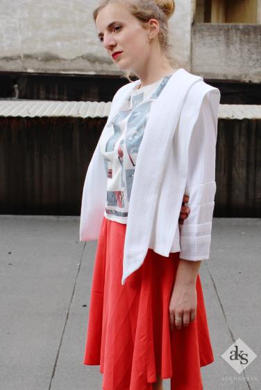 Striking Red Skirt, ALKHANSAS Spring/ Summer 2017