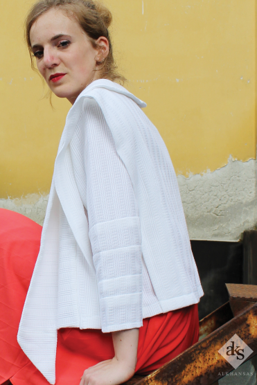 White Layered Jacket, ALKHANSAS Spring/ Summer 2017